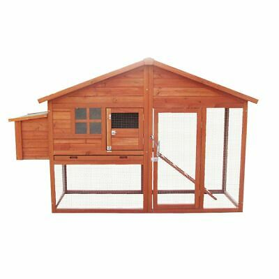 6Ft Large Chicken Coop And Run With Egg Nest Box Poultry Hen House Bird Ark Cage