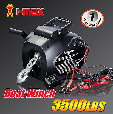 NEW I-MAX 12V 3500LBS Portable Detachable Electric Boat Winch ATV Quad 4WD 4x4