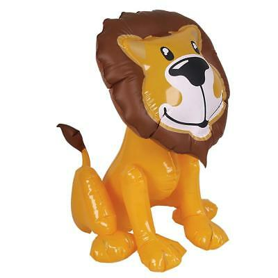 """24"""" Giant Inflatable Lion Zoo Jungle Animal Blow Up Novelty Party Toy New"""