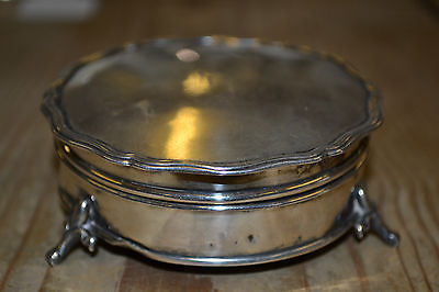 Antique 19th century Aspreys of London solid silver ring box or compact  c1890