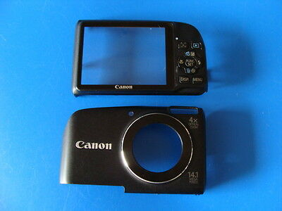 CANON POWERSHOT A2200 HD BLACK FRONT & BACK CASES FOR REPLACEMENT REPAIR PART