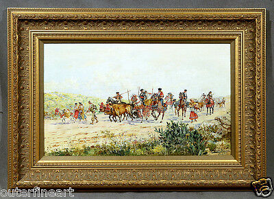 19th Century Spanish Oil Painting signed Mariano Obiols Delgado, 1902