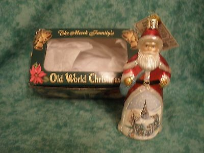 "Old World Christmas ""glistening Royal Santa"" Ornament ~Niob"