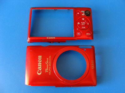 CANON POWERSHOT ELPH 300 HS RED FRONT & BACK CASES FOR REPLACEMENT REPAIR PART