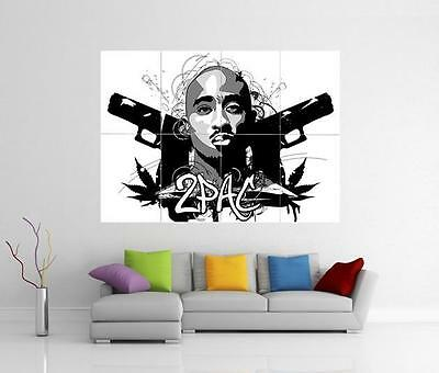 2 PAC POSTER TUPAC SHAKUR GOD QUOTE RAPPER MUSIC LEGEND WALL ART