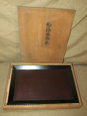 Modern Japanese Lacquer Tray in Original Box Taisho Period