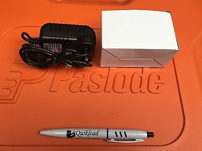 Paslode Spit Pulsa Replacement AC/DC Mains Battery Charger Adaptor 240v Free Pen