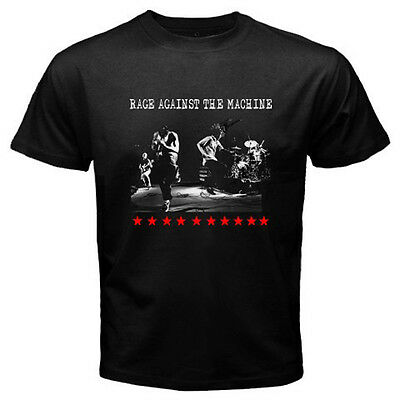 New RAGE AGAINST THE MACHINE RATM Rock Band Men's Black T-Shirt Size S to 3XL