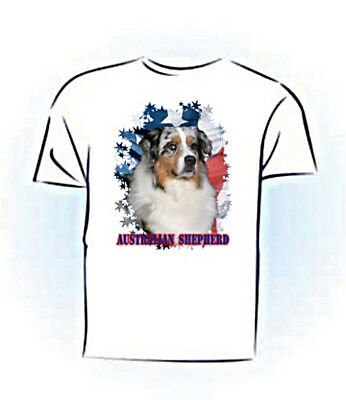 Australian Shepherd # 1 PERSONALIZED  Stars & Stripes Custom T shirt
