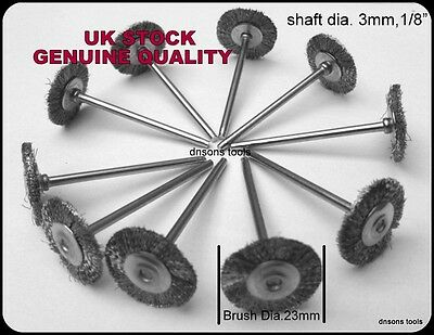 10 Steel Wire Wheel Brushes Compatible With Dremel,Foredom High Quality