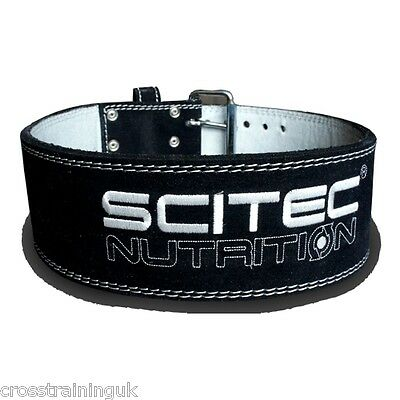 "SCITEC NUTRITION ""SUPER POWERLIFTER"" HEAVY DUTY LEATHER BELT WeightLifting Cross"