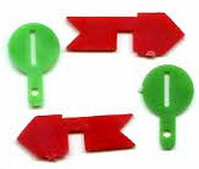 MANUAL SWITCH TARGET w/slot BANNER FLAG ARROW for AMERICAN FLYER S Gauge TRAINS