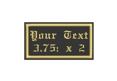 6 Rectangular Custom Embroidered Name Tag, Iron on  or Sew on Patch 3.75X2
