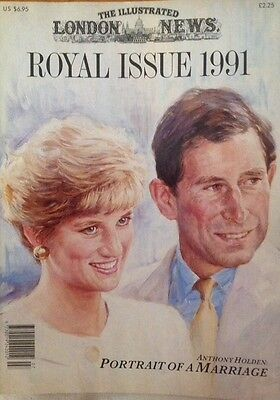 Princess Diana London Illustrated News Magazine 1991 Portrait Of A Marriage