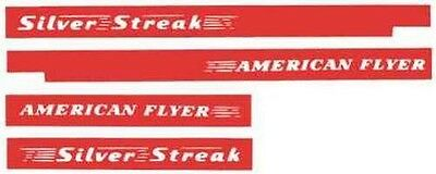 SILVER STREAK DIESEL SELF ADHESIVE STICKER SET for AMERICAN FLYER S Gauge TRAINS
