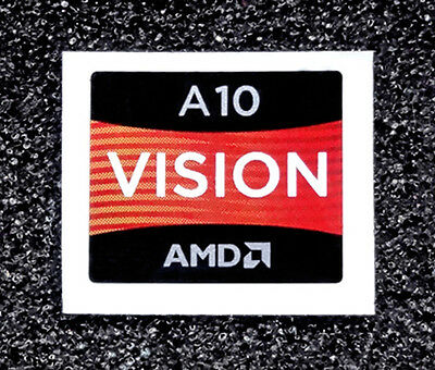 AMD A10 Vision Sticker 16.5 x 19.5mm APU A Series Case Badge USA Seller