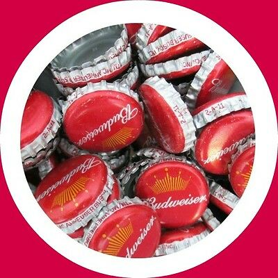 500 Budweiser Beer Bottle Caps (No Dents). Free S&H