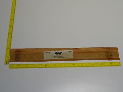 VTG Lufkin No.60M NOS 300mm Metric Steel Rule Ruler Machinist Cabinetmaker Tool