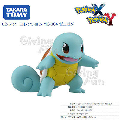 GENUINE Pokemon MONSTER COLLECTION XY MC-004 Squirtle Zenigame #007 Figure JAPAN