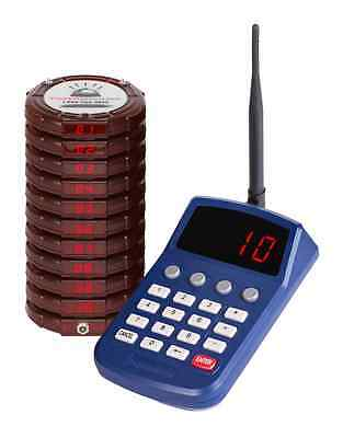 10 Wireless Digital Restaurant Coaster Pager / Guest Table Waiting Paging System