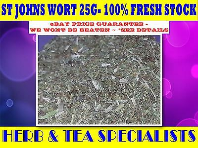 ST JOHNS WORT 25G TEA☆100% CERTIFIED ORGANIC - Hypericum perforatum☆HERBAL☆RELAX