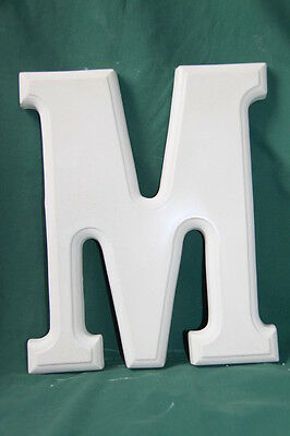 Large Letter 'M' Mould (25.5cms high) - Perfect for Plaster Craft