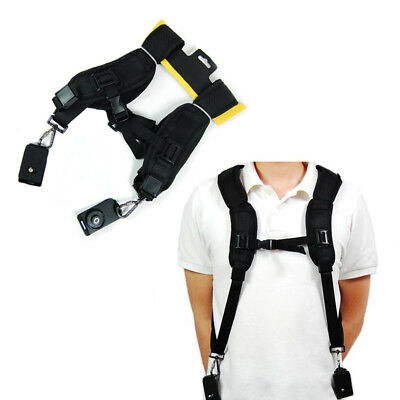 Quick Rapid Camera Double Shoulder Sling Belt Black Neck Strap for Digital DSLR