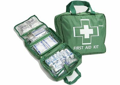 77 Pieces - Luxury FIRST AID KIT Bag, Includes Ice packs - Travel, Home, Car