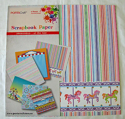"""At The Fair 12""""x12"""" Scrapbooking Paper Collection"""