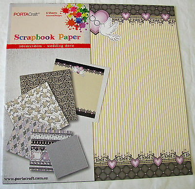 """Wedding Dove 12""""x12"""" Scrapbooking Paper Collection"""