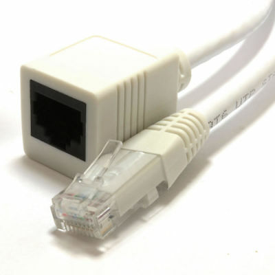 Network CAT5e/Cat6 Ethernet RJ45 Extension Plug/Socket Cable Lead Wholesale