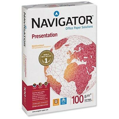 New A4 Navigator 100Gsm Premium Quality Paper, White Copy Copier Printing Office