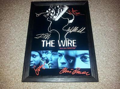 """The Wire Pp Signed & Framed 12X8"""" Photo Poster Dominic West Idris Elba"""