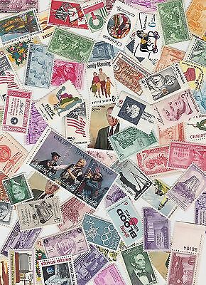 Lot of 10 different  MINT US Postage Stamps, Vintage Packet MNH unused