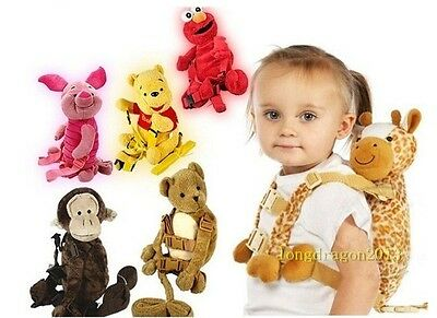 Baby Kid Keeper Toddler Walking Safety Harness Cosplay Backpack Reins Bag