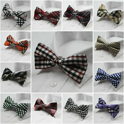 Mens Pre-Tied Cotton Bow Tie Men's Bowtie Wedding Party Tuxedo Quality Ties
