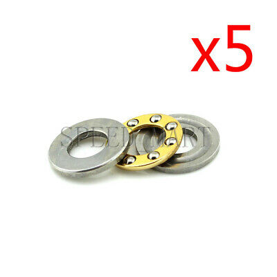 5PCS Axial Thrust Ball Bearings 8mm x 16mm x 5mm F8-16M Stainless Steel
