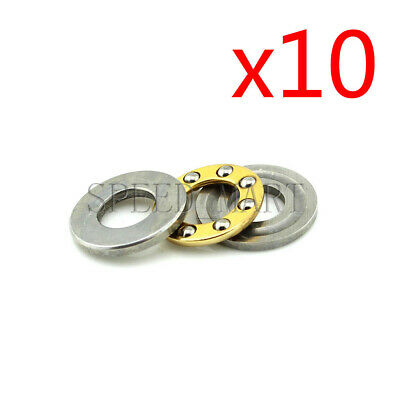 10PCS Axial Thrust Ball Bearings 8mm x 16mm x 5mm F8-16M Stainless Steel