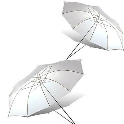"2x 33"" 84cm Photography Soft Umbrella Shoot Through for Studio Speedlite Flash"