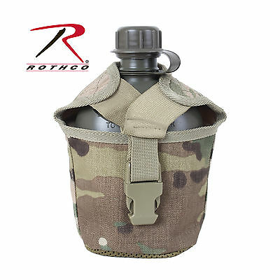 New GI Style MOLLE Compatible Multicam Canteen Cover - Quick Release Buckle