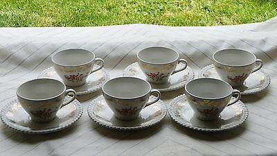6 Tres Anciennes Tasses A Cafe The Kg Luneville