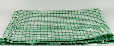 50 x Wonderdry Green Checked Tea Towels 100% Cotton Catering Kitchen Cleaning