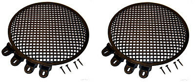 "2 Heavy Duty Steel Penn Elcom Subwoofer 12"" Round Waffle Grill Cover W/ Hardware"