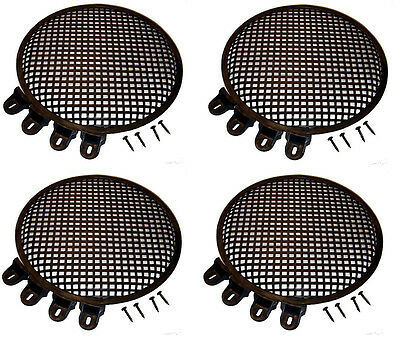 "4 Pack Heavy Duty Steel Penn Elcom 12"" Round Grill with Hardware"
