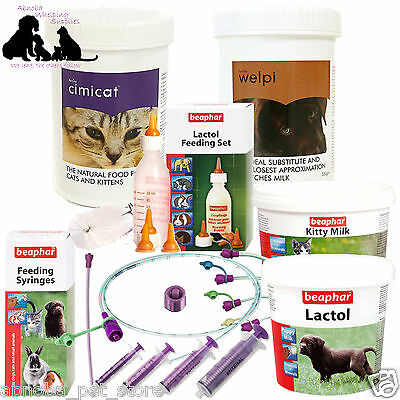Puppy Kitten Complete Feeding Set Welpi Lactol Milk Bottle Feeding Tube Whelping