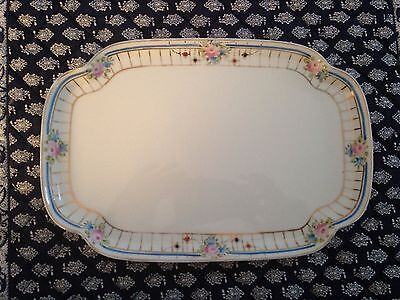 Vintage Or Antique Nippon Hand Painted Porcelin Tray 10x7 Inches. DelicateBeauty