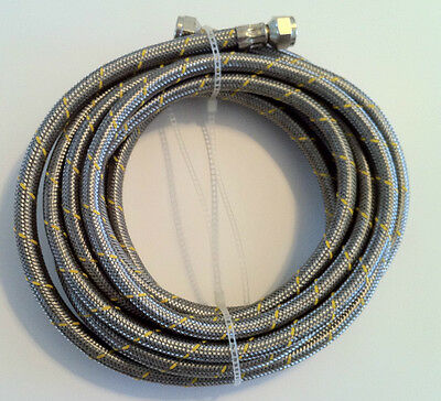 Propane, Natural Gas Line 32 ft Stainless Steel Braided Hose LP LPG