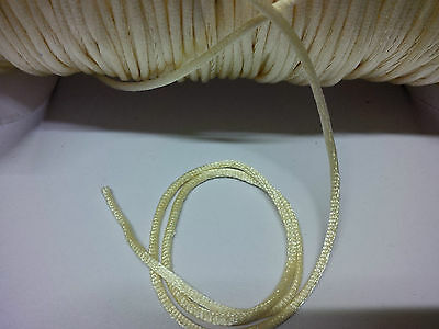Gold satin cord approx 2mm  one price for 5 metres