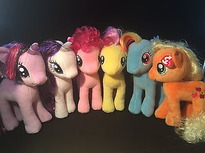 "Ty 11"" (28Cm) My Little Pony Soft Plush Toys -  Bnwt- Licenced Product"