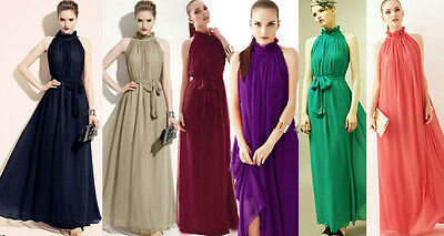 Bridesmaids' Ball Gown Cocktail Evening Formal Dress 5 Colours Choices Size 8-20
